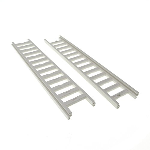 Preisvergleich Produktbild 2 x Lego System Leiter weiss 14x2, 5 Feuerwehr Set 7208 7239 6340 6464 4207