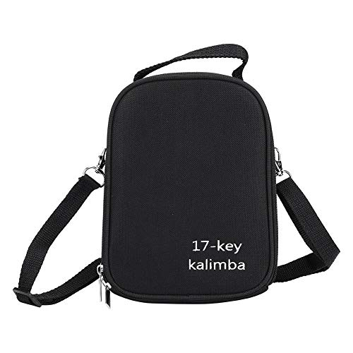 𝐏𝐚𝐬𝐜𝐮𝐚 Con caja de bolso Kalimba con correa, bolsa de almacenamiento Kalimba antichoque de 17 llaves a prueba de golpes, uso al aire libre para dedos pulgares Piano Travle Use Kalimba
