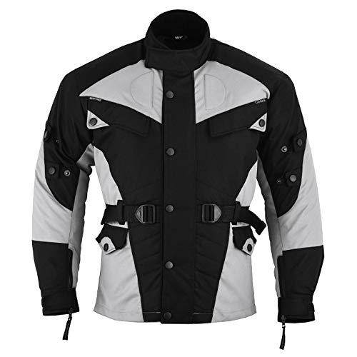 German Wear Motorradjacke Textilien Schwarz/Hellgrau, M