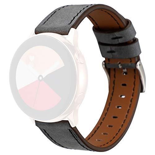 LXF JIAJU Correa De Reemplazo De Banda De Cuero Premium Delgada para Samsung Galaxy Watch Active 40mm Pulsera Reloj Correa Fitness Tracker (Color : A)