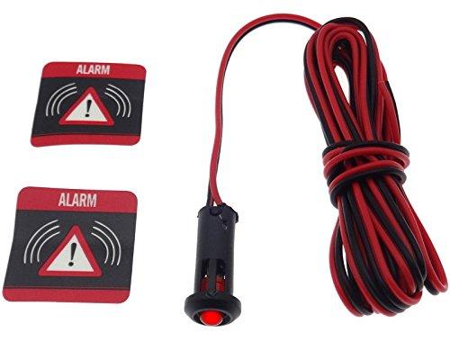 Simulateur d'alarme factice 12 V rouge LED clignotant autocollant pour voiture, bus, moto, bateau