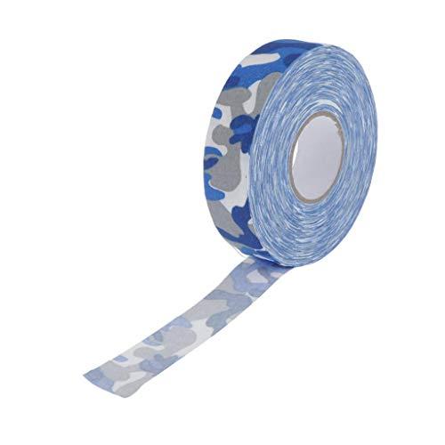 perfeclan Schlägertape Eishockey Hockey Schläger Tape 2,5cm Hockeytape - Blaue Tarnung