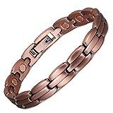 YINOX Pulsera magnética de cobre puro para mujer, regalo para damas, mamá, mejor alivio natural del ...