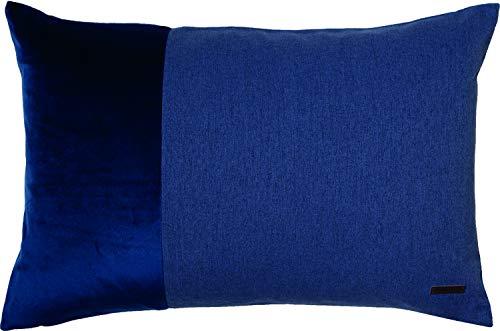 ESPRIT Cojín decorativo Harp • Funda de cojín 38 x 58 azul royal • Decoración para salón • Sin relleno • 100% poliéster