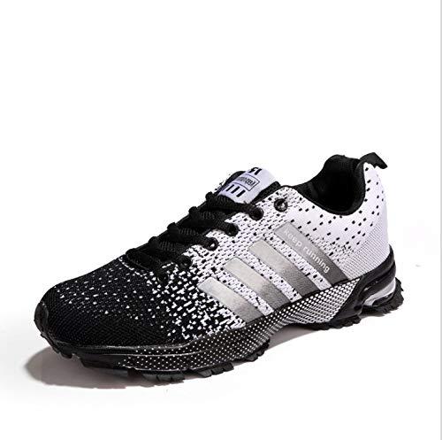IDE Play Femmes Hommes Chaussures de Course Formateurs Sport Gym Jogging Marche athlétique Fitness en Plein air Chaussures de Sport,Noir,39