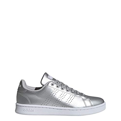adidas Advantage, Zapatillas de Tenis para Mujer, Argent Mat Blanc Gris, 38 2/3 EU