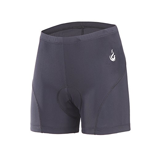 beroy Women Quick Dry Cycling Underwear with 3D PaddedGel Bike Underwear and Bike Shorts Black Large