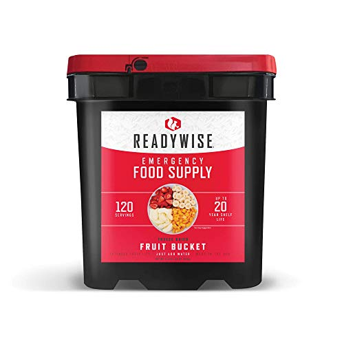 Wise Company ReadyWise, Emergency Food Supply, Emergency Freeze Dried Fruit Bucket, 120 Servings