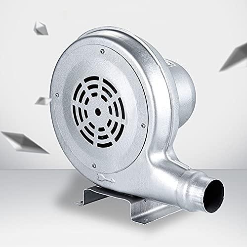 Uppblåsbara fläkt, 150W elektrisk luftpump fläkt, hoppslottstoppluft fläkt, centrifugal elektrisk luftfläkt, för uppblåsbara tält, uppblåsbara kolumnanvändning, järnväska, silver,120W