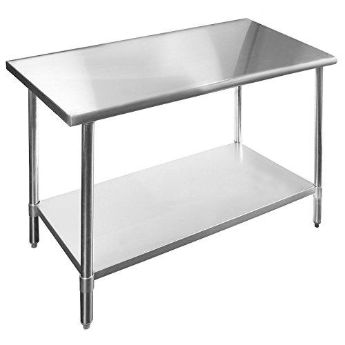 Work Table Food Prep Worktable Restaurant Supply Stainless Steel 14 x 48