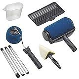 Rodillo Pintar Con Deposito y Mango Extensible Kit 6 Piezas