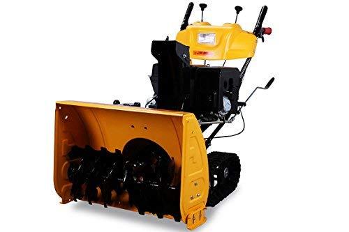 Miweba Benzinmotor Schneefräse mit Raupenantrieb 13PS Extrabreit 71 cm inkl. Kehrbürsten Satz Loncin Wintermotor Schneeschieber