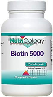 NutriCology Biotin 5000 60 Vegetarian Capsules
