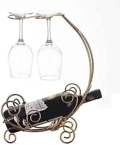 Estantería de vino Hay cuatro simples contadores de ideas vinculadas mostrar la posición del contador de vino titular de la taza del vino creativo europeo Copa de Europa Copa Wine Bar estante de vino