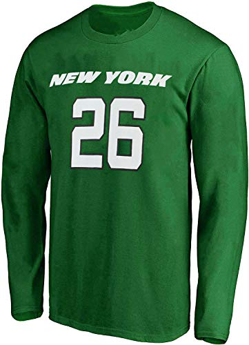 NFL Youth Team Color Mainliner Player Name and Number Long Sleeve Jersey T-Shirt (X-Large 18/20, Leveon Bell New York Jets Green)