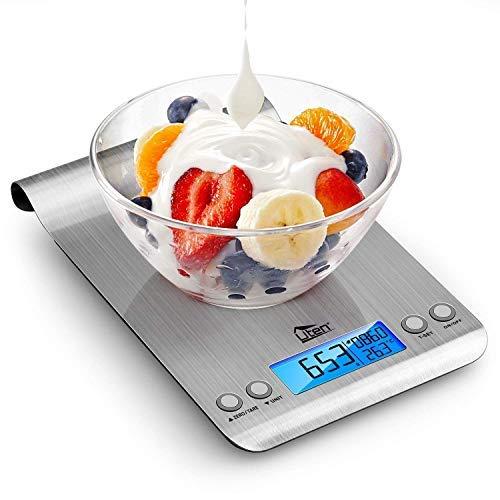 Küchenwaage Digitalwaage 5kg Professionelle Waage Electronische Waage, Uten Küchenwaage mit Haken Timer Thermometer auf bis zu 1g