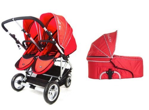 Lowest Prices! Stroll-Air 2017 My Duo Stroller with 1 Bassinet (Red)
