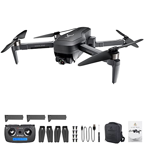 SG906 Pro2 Drone 4k Mecânica Gimbal de 3 eixos Câmera 5G WIFI GPS RC QuadcopterBlack3 * baterias