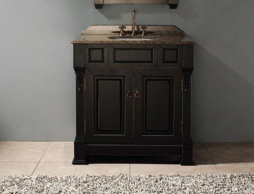 James Martin Furniture Single Vanity, 36-Inch, Antique Black