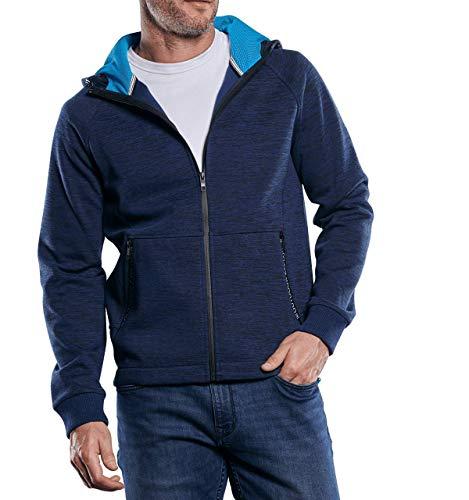 engbers Herren Sportive Sweatjacke mit Outdoor-Details, 29757, Blau in Größe 5XL