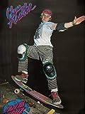 80s Santa Cruz claus サンタクルーズ オールド ビンテージ スケートボード ポスター デッド ストック スミスグラインド