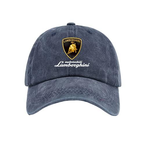 MartinCSA Herren Retro Baseball Cap Lambo.RGhi.ni Erwachsene Kinder Classic Cap Geeignet für Männer und Frauen Golf Hut Paare/Navy Blau/Einstellbar