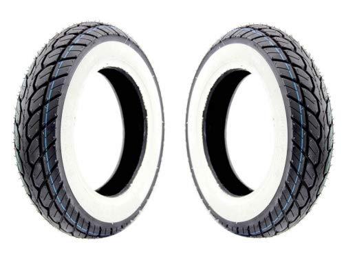 Weisswand Reifen Satz Kenda K418 3.50-10 4PR 51J TL für Roller/Scooter