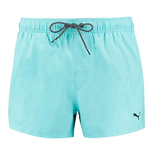 PUMA Herren Badehose Badeshorts Logo Short Length Swim Shorts, Farbe:Angel Blue, Bekleidungsgröße:XXL