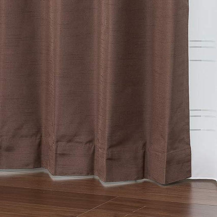 旧正月実現可能海外全11色 完全遮光 防音 オーダーカーテン「キング」ブラウン【幅250cm 丈185cm 1枚入】