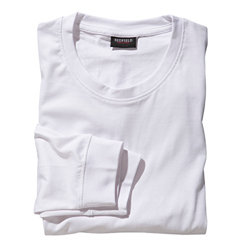 Redfield Langarmshirt Übergröße weiß, XL Größe:6XL