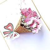 Trilance Cartes Bouquet de Fleurs Carte 3D popup pour Fête des Mères, Joyeux Anniversaire, obtenir la Carte de Puits, Anniversaire, Jardinier de Fiançailles, Chic Carte de Voeux