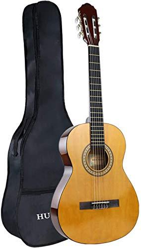HUAWIND Konzertgitarre 4/4 Anfänger, 6 Nylon Strings Konzertgitarre Set mit Gig Bag, 39 Zoll Konzertgitarre für Erwachsene Kinder Anfänger