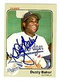 Dusty Baker autographed baseball card (Los...