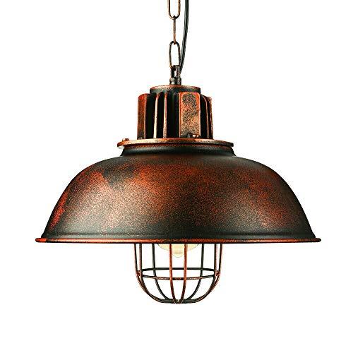 Lampadario a sospensione vintage in metallo, stile industriale, lampada a sospensione retrò, E27, senza lampadina