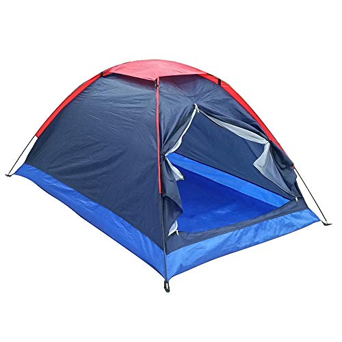 IHCIAIX tent, Professional 2 People Outdoor Travel Camping Tent, Beach with Bag 2 Persons Waterproof PU 1000 mm Polyester Fiber Tent,undefined