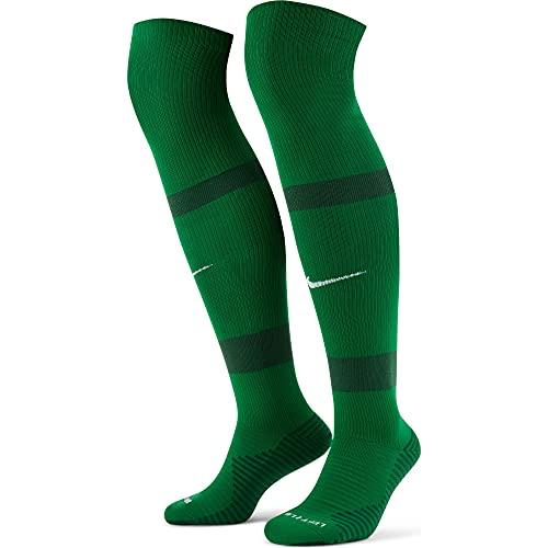NIKE U Nk Matchfit Knee High-Team 20 Calcetines, Verde Pino, Verde y Blanco, XL Unisex Adulto