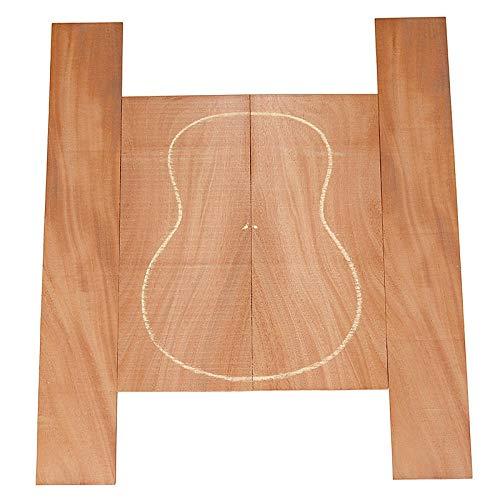 Afrika Importiert 3A Grade Schwarz Walnuss Ebony Gitarre Full Furnier Rückseite Gitarre Produktionsmaterial Zzib (Color : Random)