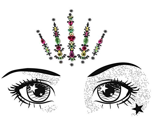 Face Gems/Pink Rhinestone Sticker/Face Crystal Jewels For Festivals/All In One Stick on Bindi/Temporary Glitter Tattoo Headpiece/Self Adhesive Rhinest