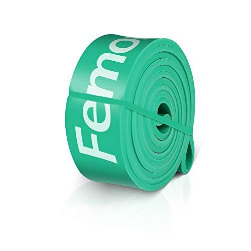 FEMOR Elastici Fitness 2080mm, Elastici Fitness Resistenza 50-125Lb, Elastici Fitness Lattice Naturale, Loop Bands Set per Stretching, Verde