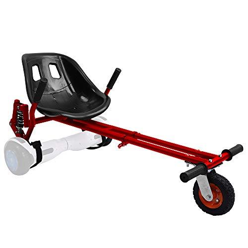 YOLEO Hoverkart Asiento para Hoverboard Kart con Suspensiones, para niños y Adultos, 58 × 44 cm (Accesorio Hoverboard), Rojo
