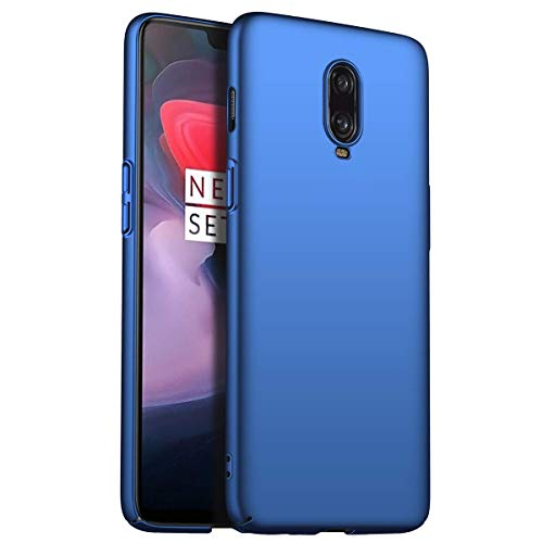 HUUH Funda para OnePlus 6T McLaren,Simple y Temperamento,Carcasa del teléfono móvil Anti-caída de Cubierta Dura Mate Ultra Delgada(Azul)