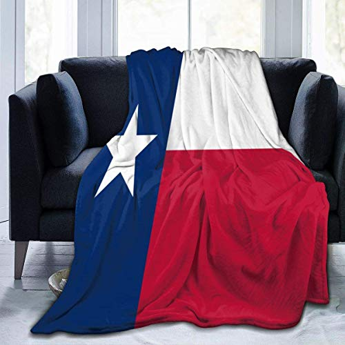 W-wishes Flag of Texas Throw Flannel Fleece Blanket,Soft Warm Fluffy Plush Blanket For Bed Couch Chair Living Room,50'x60'