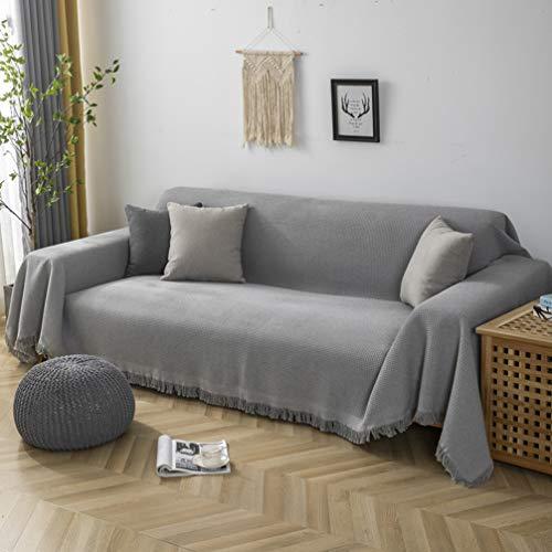 BoruisX Universal Sofabezug Couchüberwurf Sofaüberwurf rutschfest Möbelschutz Sofabezug Klippan Sofabezug, grau, 230x260cm