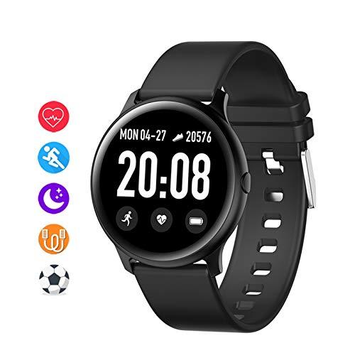 LXF JIAJU Smart Watch Sports Sports Tarifa Cardíaca Podómetro Bluetooth Fitness Pulsera Llamada Recordatorio Señoras Smart Relojes para Android iOS (Color : Black)