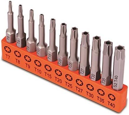 lowest HORUSDY outlet sale 11-Piece Tamper Resistant Star Bits, S2 Steel, T7 - T40 Security outlet sale Torx Bit Set outlet online sale