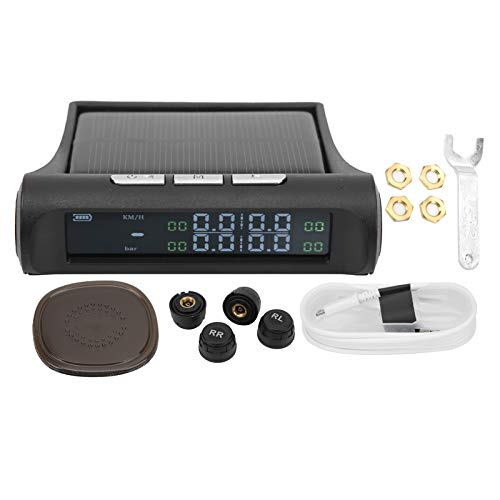 Head Up Display, monitor de presión de neumáticos solar multifunción GPS universal, pantalla LCD Proyector HUD con alfombrilla antideslizante
