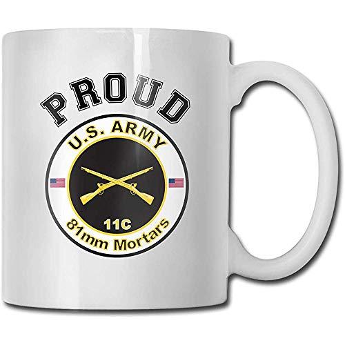 Armee Mos 11C 81Mm Mörser lustiger Geschenk-Becher weißer Tee-Becher