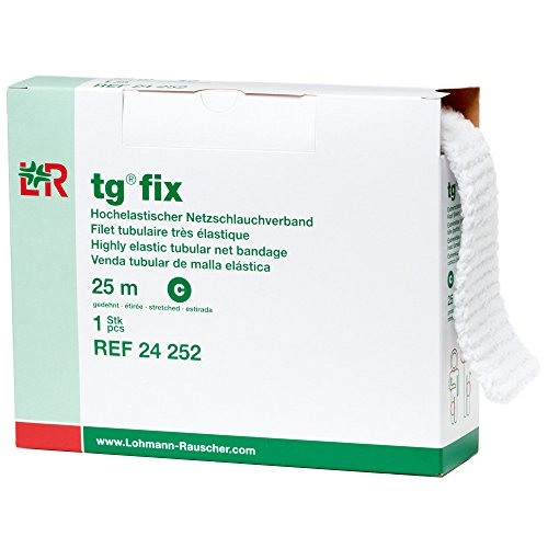Lohmann & Rauscher-34969 tg Fix Net Tubular Bandage, Elastic Net Wound Dressing, Bandage Retainer for Large Extremities, Size C (65.0cm Wide x 25m Long When Stretched)