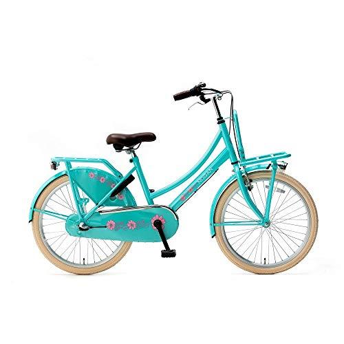 Transportfiets Nogan Vintage 20, 22, 24 en 26 inch Meisjesfiets met 3 versnellingen in meerdere kleuren met een voorrekje voor kinderen van 7 tot 12