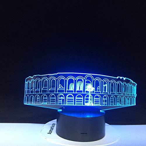 Architekturnacht beleuchtet Kunst-Brücken-Bunte Licht-Kristallacrylbeleuchtungs-Wohnaccessoires